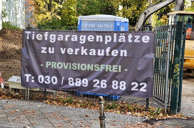 Baustelle Tiefgaragenparkplätze, Hohenzollerndamm / Berkaer Straße, 14199 Berlin, 18.10.2013