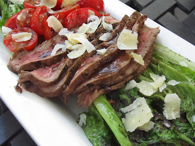 Grilled Romaine Steak Salad with Dijon Vinalgrette Recipe