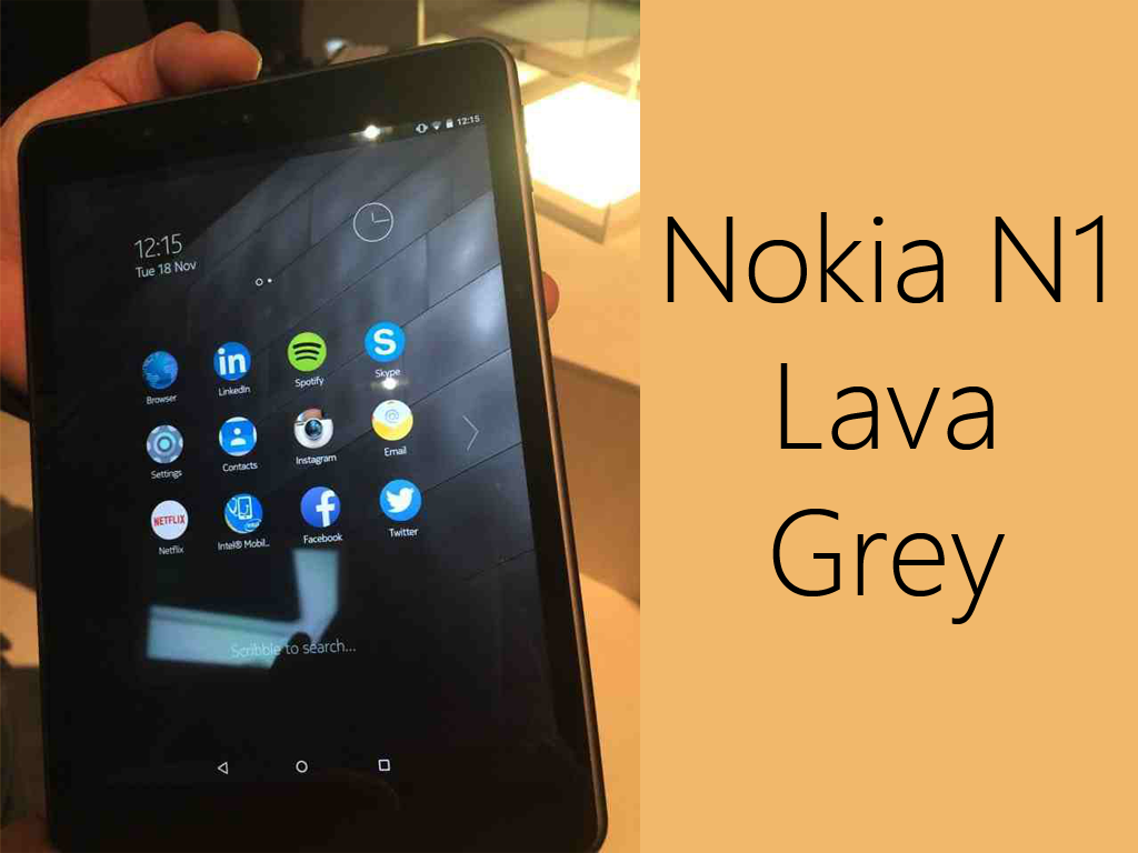 Nokia N1 Lava Grey Model Actual Photos Revealed