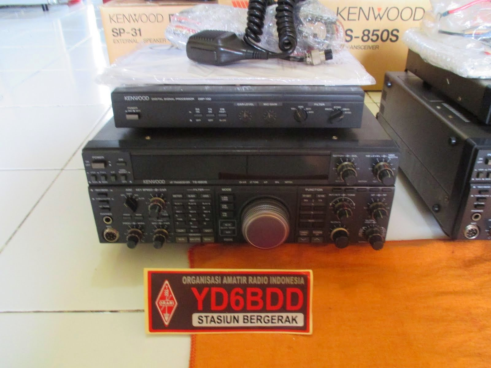 KENWOOD TS850s AT s/n 2 + BOOK MANUAL (Ts850sAT+DSP100) KE 1