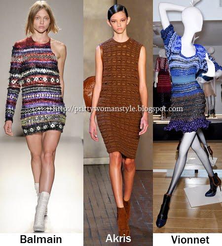 Къси плетени рокли есен/зима 2011/12