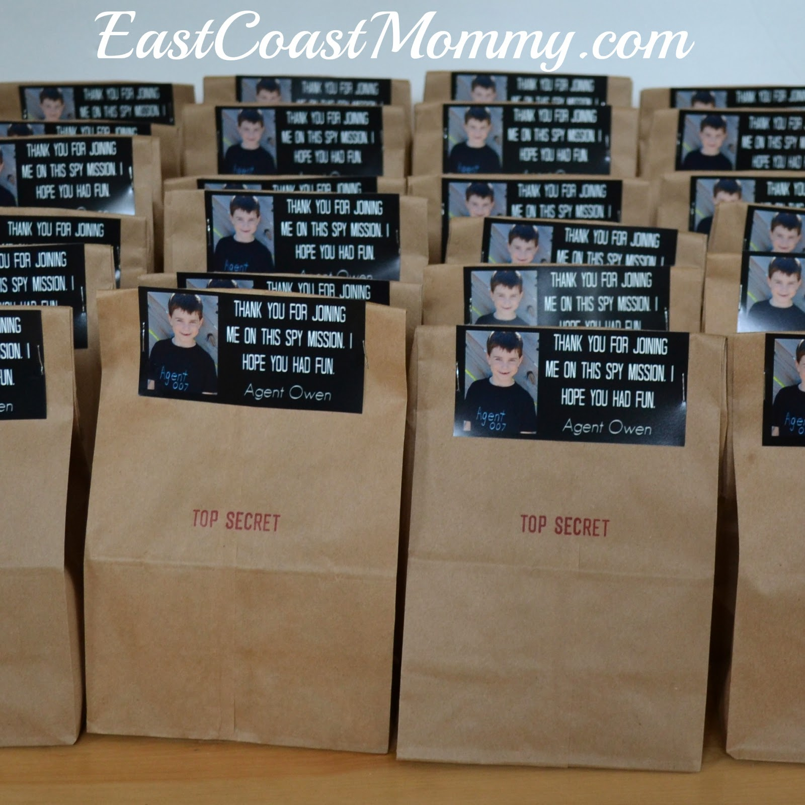 East Coast Mommy: Spy Party - Loot Bags