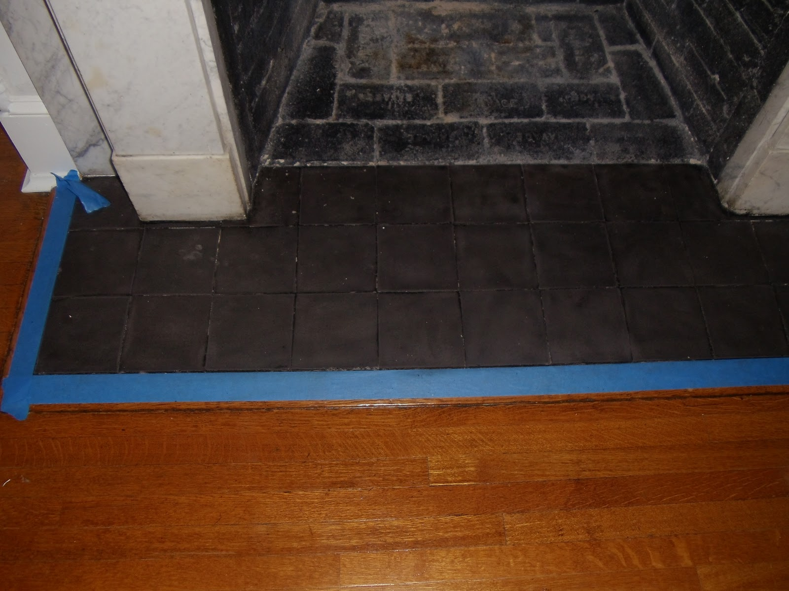 Worthwhile domicile revamping boobears fireplace someone painted black paint over slate um ok i prefer just the slate i dont see a need to paint black slate black do you different strokes i guess dailygadgetfo Images