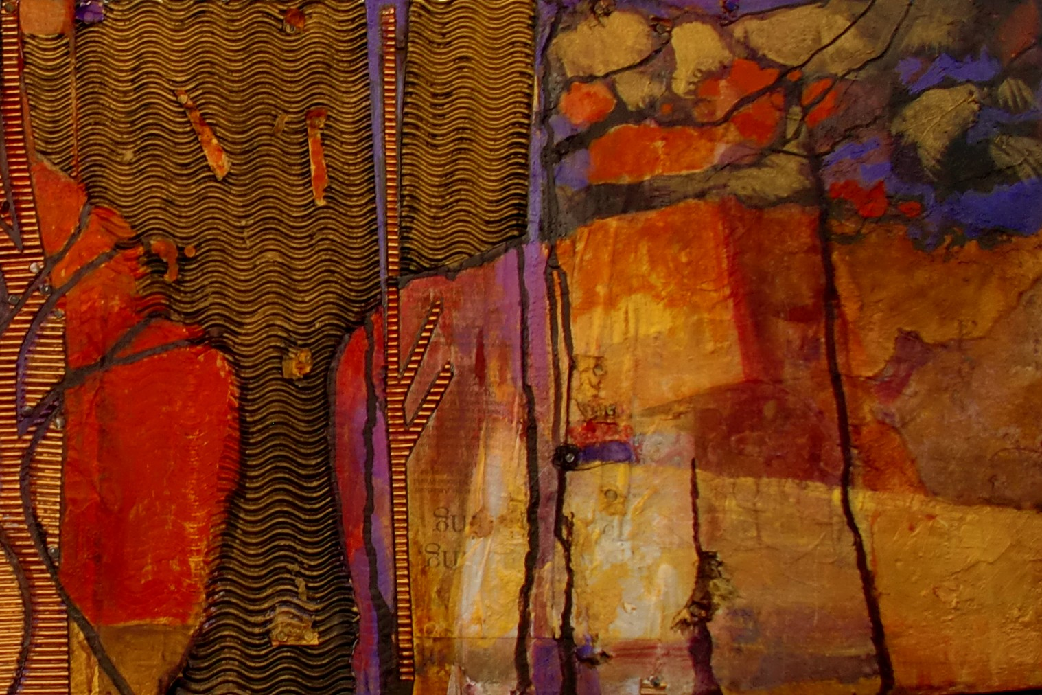 Elements Of Fine Arts : Carol nelson fine art quot forest elements daily