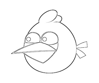 #10 Angry Birds Coloring Page