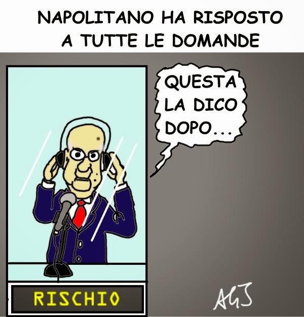 Napolitano, trattativa, satira