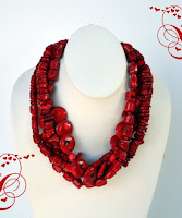 """Unconditional"" Bamboo Red Coral Necklace"