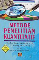 toko buku rahma: buku METODE PENELITIAN KUANTITATIF, pengarang toto syatori nasehudin, penerbit pustaka setia