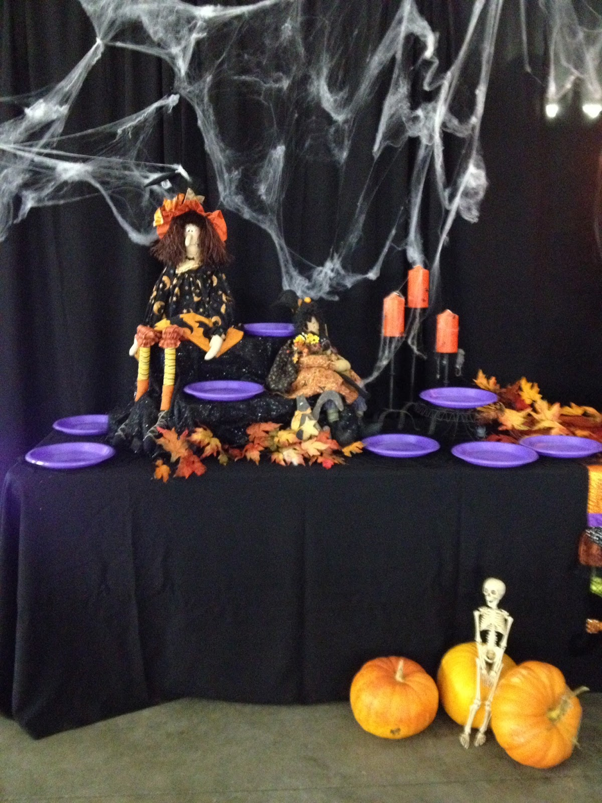 dessert table for halloween party