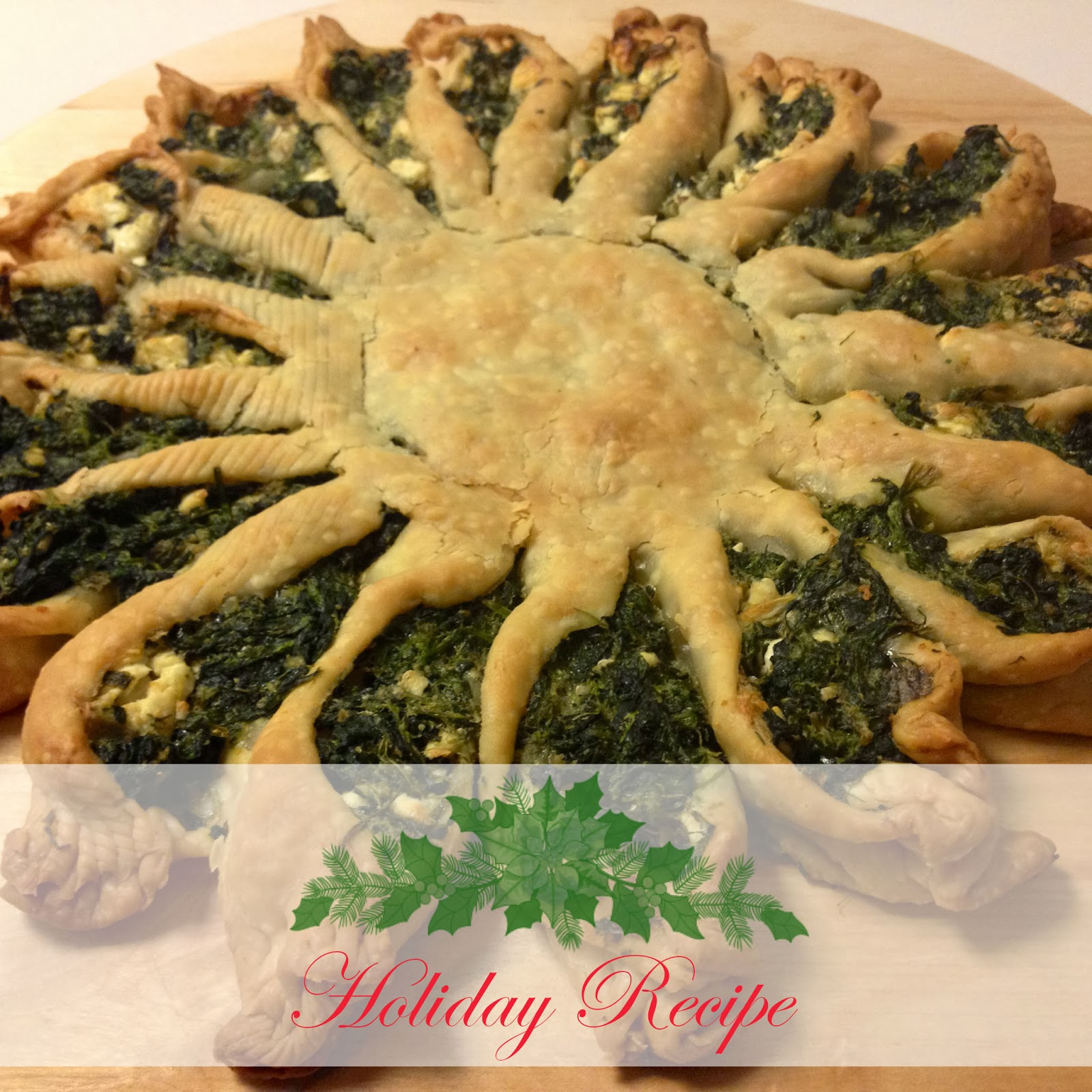 Spinach pie for the Christmas table