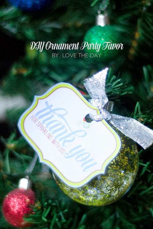 The Party Hop: A Handmade Holiday ornament party favor