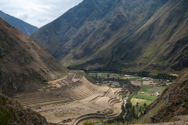 A photograph of Wayllabamba taken on day 1 of the Inca Trail in Peru