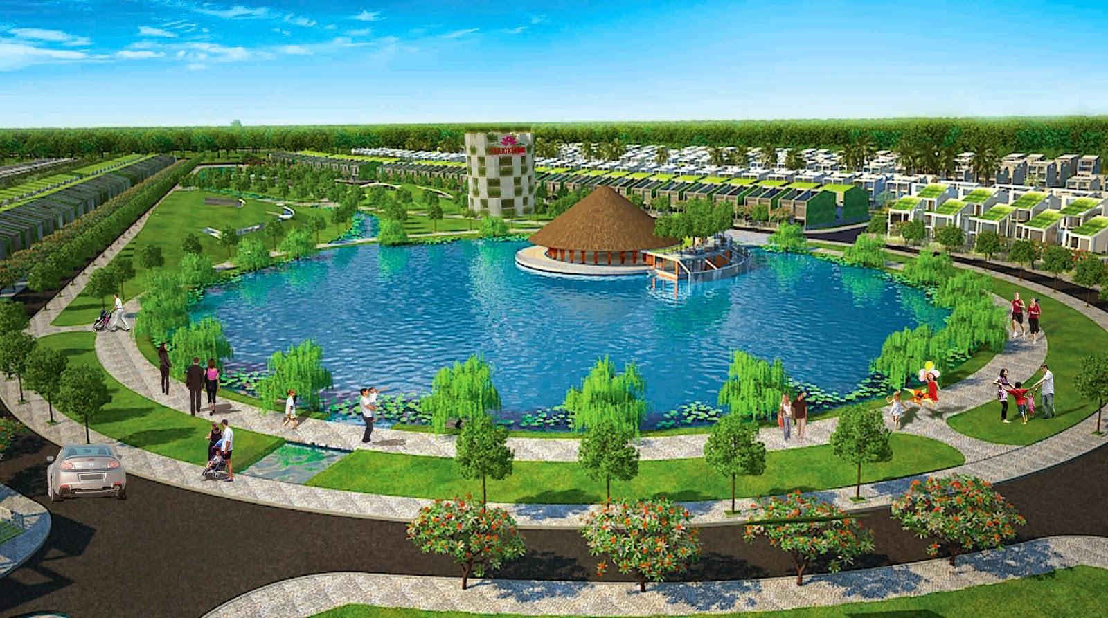 Một góc tại hồ tinh đế liên dự án làng sen việt nam