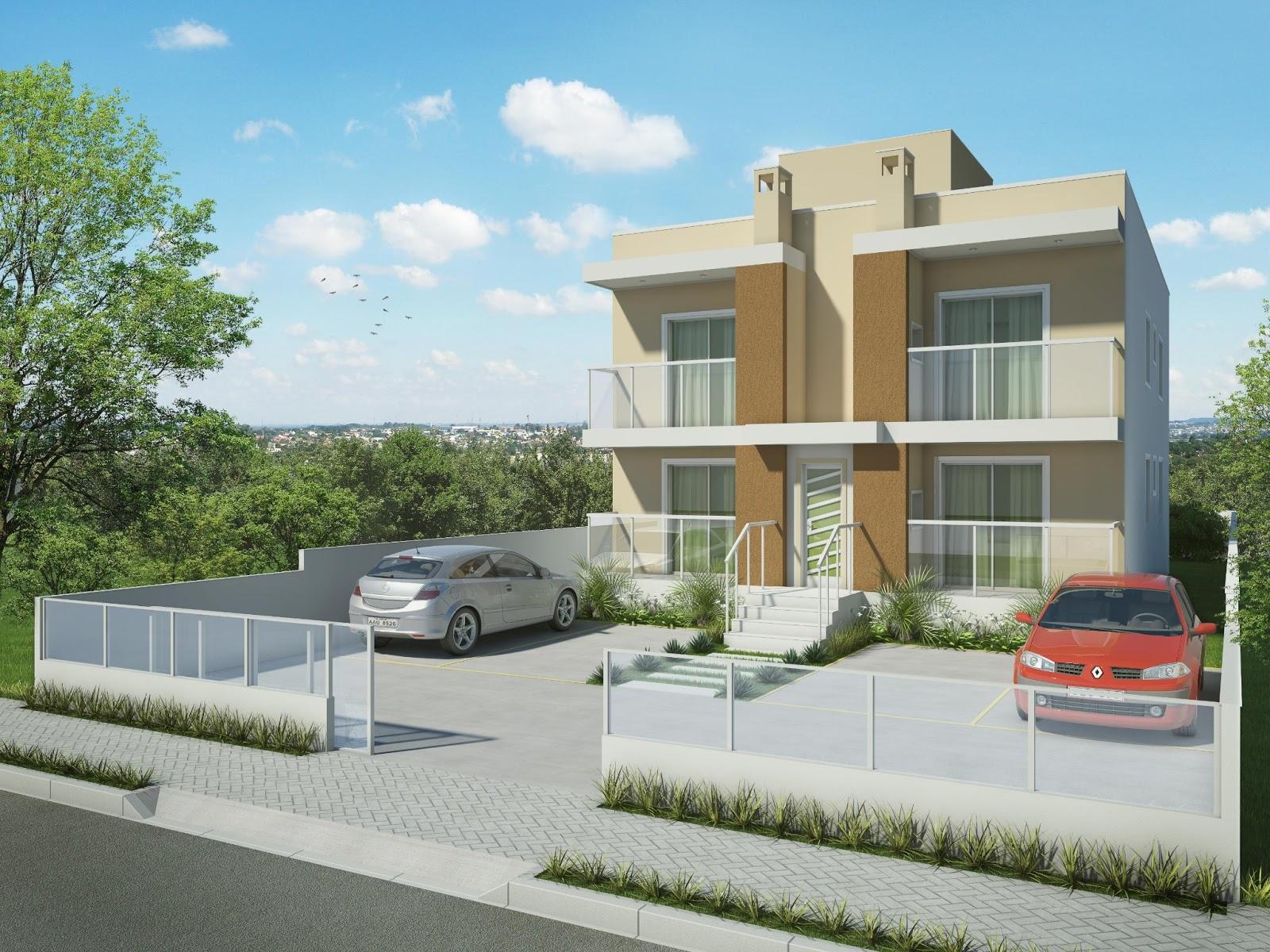 Fachadas de apartamentos e pr dios for Fachadas para apartamentos pequenos