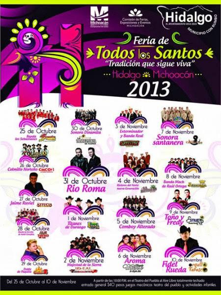 feria hidalgo michoacán 2013 artistas