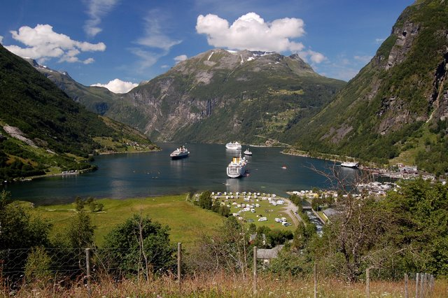 Geirangerfjord in the summer