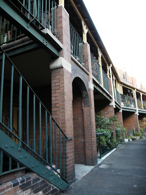 Old houses in The Rocks, Sydney