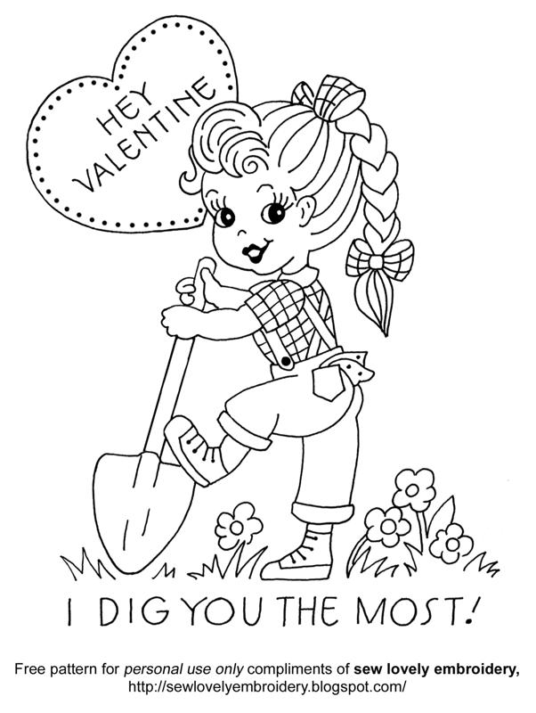 vintage valentine coloring pages - photo#13