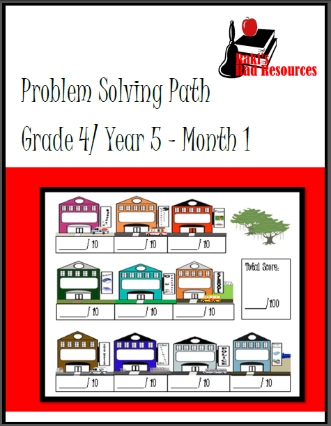 Free month long problem solving math journal from Raki's Rad Resources.