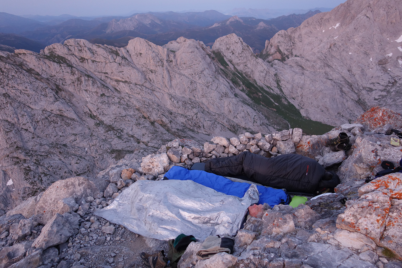 Dormir en las montañas