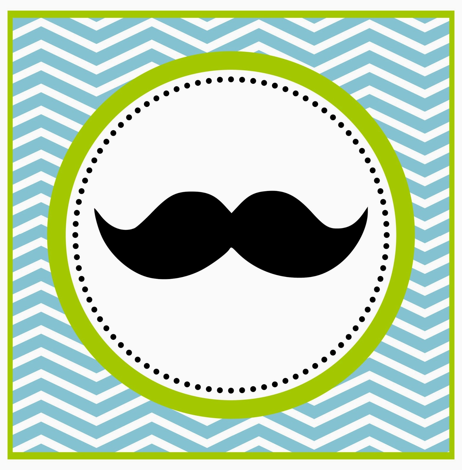 Little Man Mustache Baby Shower Clip Art