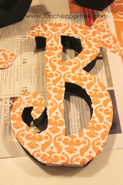 Wooden letter B with paper, from Fun Cheap or Free