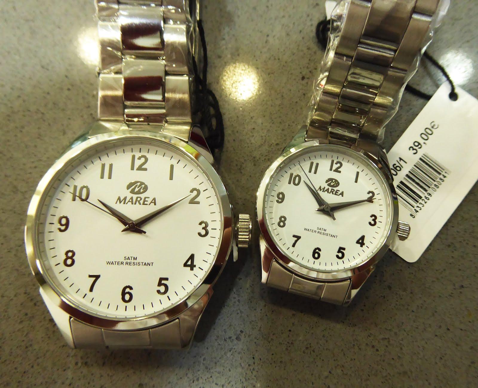 Relojes Marea de señora y caballero