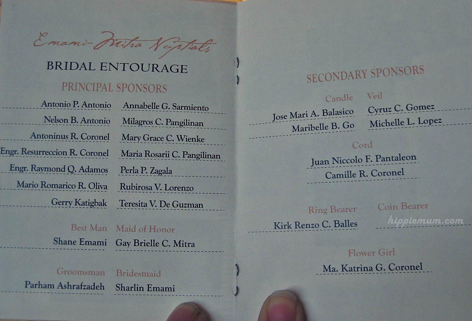 wedding invitation lists