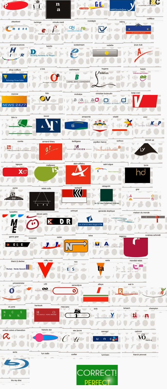 Solution logos quizz france niveau 14