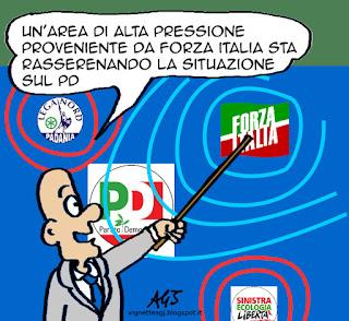 PD, Renzi, Clima, satira vignetta
