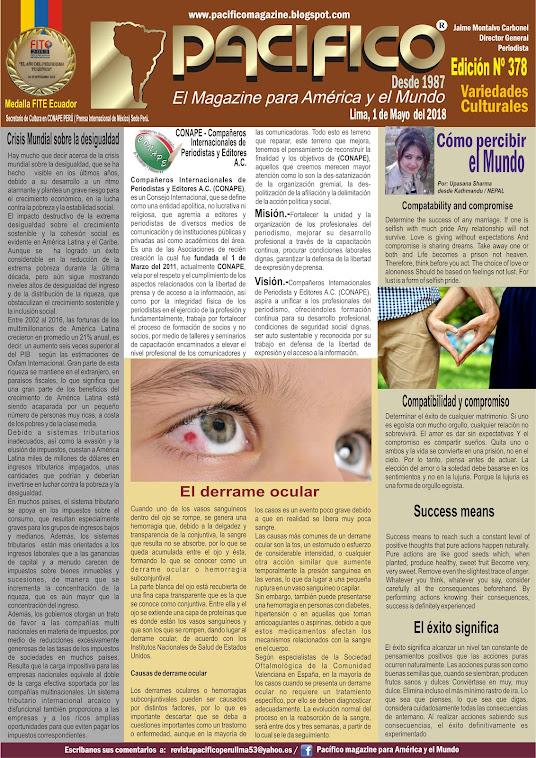 Revista Pacifico Nº 378 Variedades Culturales