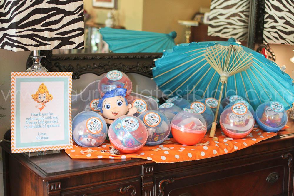 Lauren 39 s latest bubble guppies overload - Bubble guppies party favors ideas ...