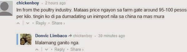 Comment on Jollibee chicken shortage