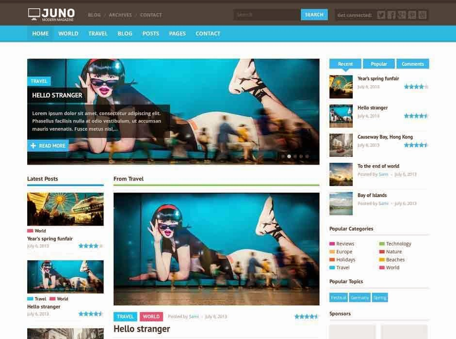 Juno Responsive WordPress Magazine Theme
