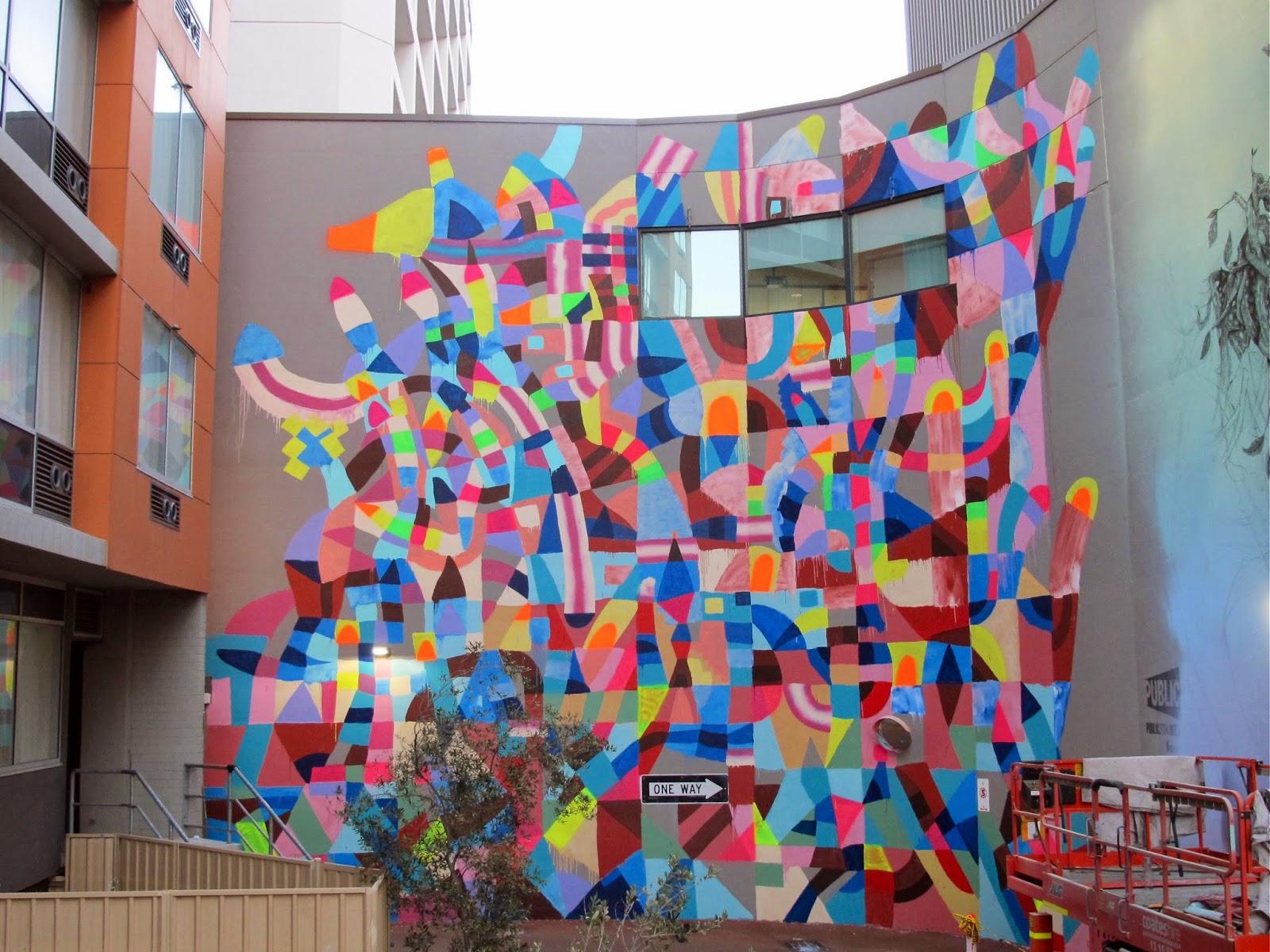 Maya hayuk new mural for public festival perth for Art mural nivelles