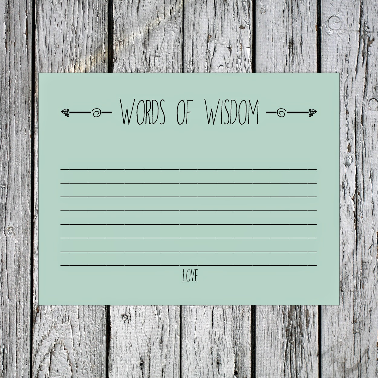 printable words of wisdom best wishes and advice cards