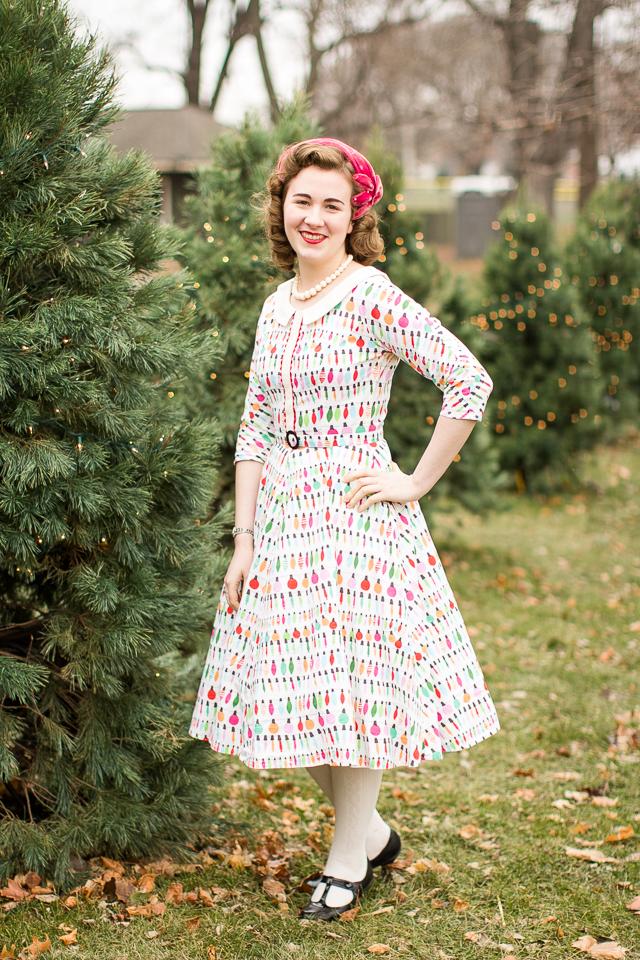 Mode de Lis: · Christmas Lights Dress ·
