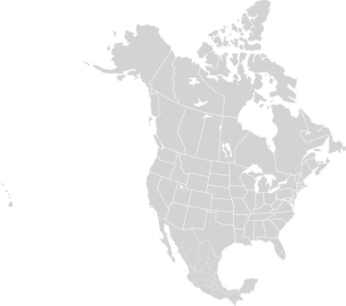 Blank North America Map