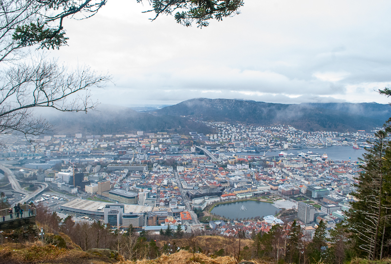Panoramic view from Mount Floyen in Bergen