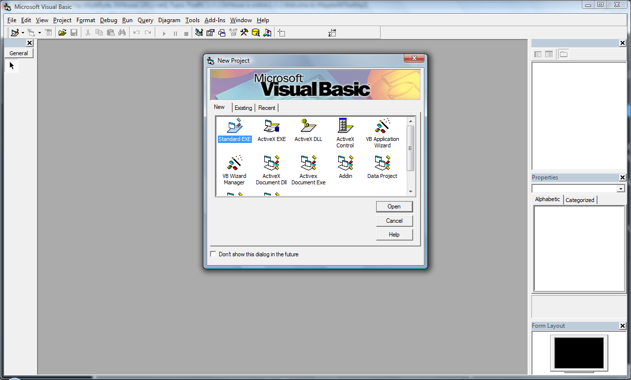 6 Komponen Dasar Visual Basic 6
