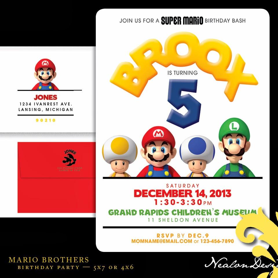Nealon Design: MARIO BROTHERS Birthday