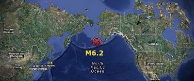 Terremoto 6,2 grados, islas Aleutianas, Alaska - 10 de Agosto 2012