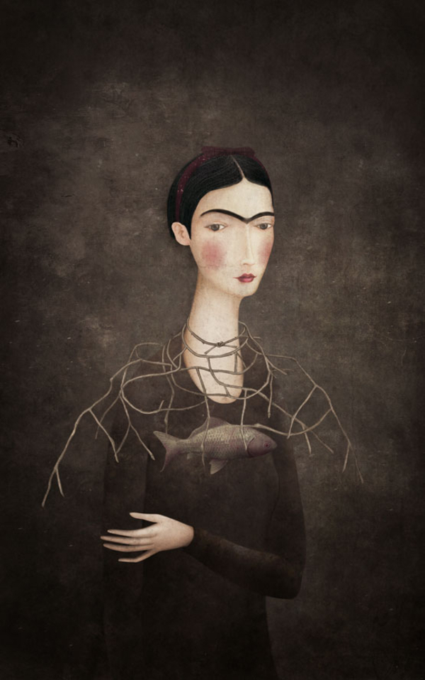 Frida | Gabriel Pacheco 1973 - Mexican Surrealist Visionary painter - Tutt'Art@