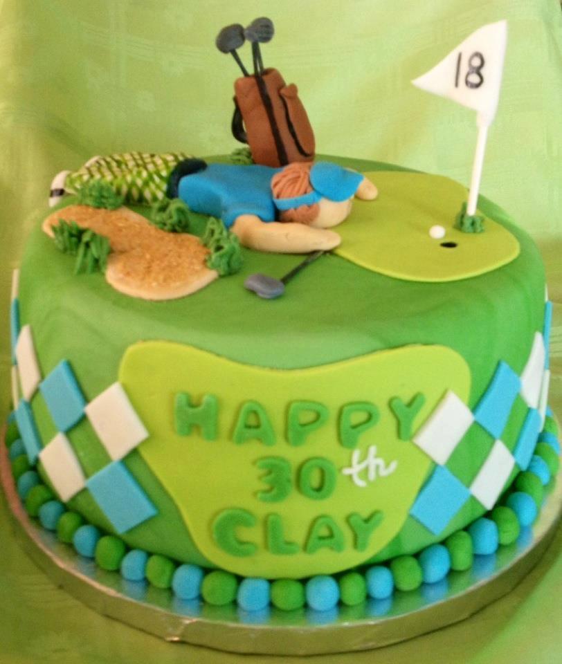 Golf Fondant Cake