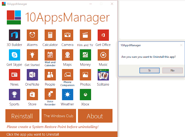 10AppsManager interfaccia grafica
