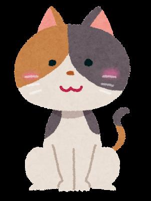 三毛猫のイラスト
