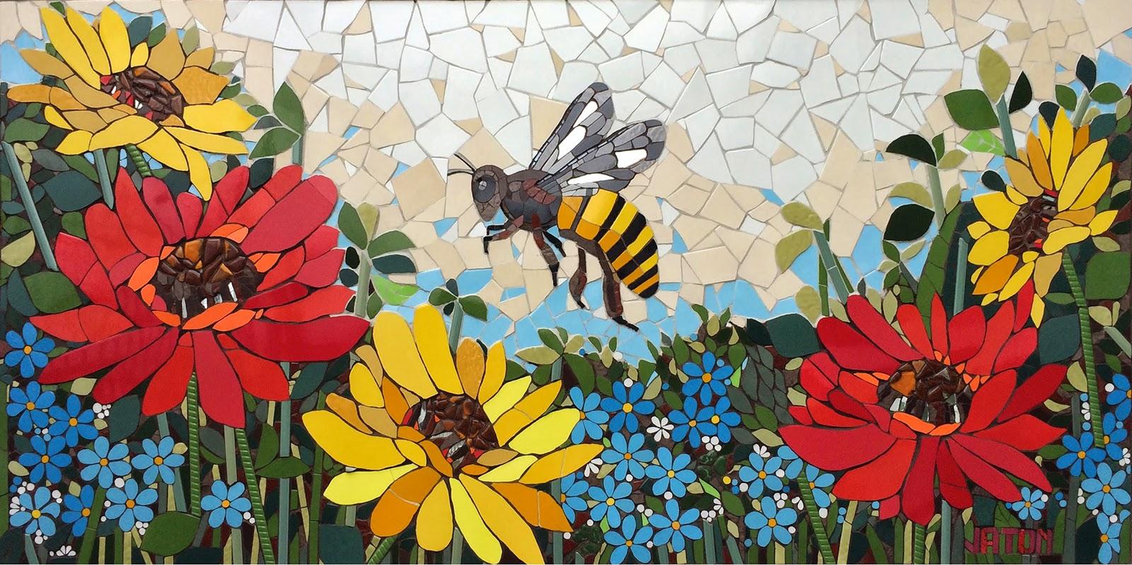Mosaico creativo de fj mosaic art murales for El mural de mosaicos