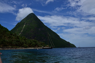 Gorgeous beach between the Pitons