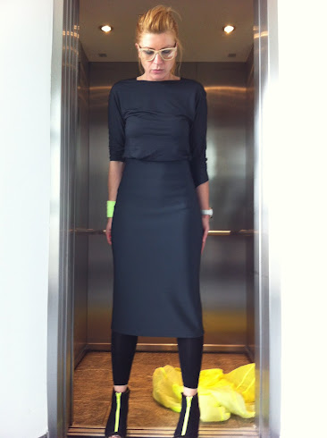 neoprene pencil skirt darkgrey