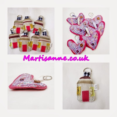 Fabric keyrings handmade